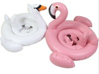 Wholesale Baby Swimming Ring Inflatable Flamingos Swan Seat Boat Water Swim Ring Pool Swiming Float Swimming Pool Beach Toys LLFA