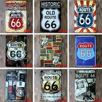 Wholesale Metal Wall Crafts - Tin Painting U.S. Historic Old Route 66 Metal Poster Wall Decor Bar Home Vintage Craft Art Iron painting Tin Poster Pub Signs