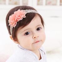 los nios de pelo adornos de primavera y la seccin de verano gasa flores beb pelo banda de encaje beb pelo correa cabeza nios ornamentos