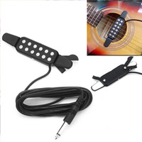 Wholesale Clip Guitar Pickup - Easy To Use Electric Guitar Pickup Audio Transducer Clip-on Acoustic Amplifier acoustic guitar in to an acoustic electric guitar