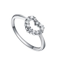 STARHARVEST 925 Sterling Silver Prong Heart Promise Cheap Silver Anillos Online. High Quality Cubic Zircon Stones