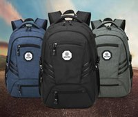 Wholesale 17 Laptop Backpack - Business Water Resistant Polyester Canvas Backpack with USB Charging Port and Lock Fits Under 17-Inch Laptop Polyester and Nylon Notebook