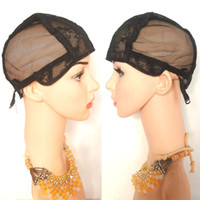 Wholesale Small Cap Wigs - Jewish Glueless Wig Caps For Making Wig With Adjustable Strap On Back Small Medium Large X-large Black Brown Blonde 20pcs DHL Free Shipping