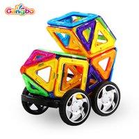 ingrosso grandi blocchi di plastica-71 pezzi Gangbo plastica mag saggezza giocattoli all'ingrosso blocco magnetico per il bambino grande giocattolo in plastica blocchi per bambini
