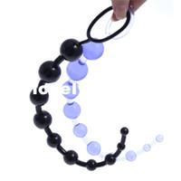 beste anal toys großhandel-13 Zoll Oriental Jelly Analkugeln für Anfänger Flexible Anal Stimulator Butt Beads Beste Anal Sex Spielzeug für Männer und Frauen