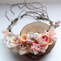 Wholesale Hawaii Head Accessories - New Fashion Hot Wedding Bridal Girl Head Flower Crown Rattan Garland Hawaii flower head wreath Hair Formal Stunning Green Accessories A7367