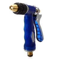 Wholesale Water Supply Pressure - Wholesale- Blue Copper Head High Pressure Vehicle Water Spray Gun Household for Garden Washing Supplies Healthy with Environment-friendly