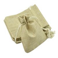 Wholesale Gunny Bags - Free shipping 100pcs Lot Linen Drawstring Pouch Jewelry Bag,Christmas Wedding Gift Gunny Bag(size:7*9cm,10*12cm)