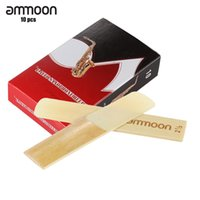 For Saxophone as pic Bamboo Reeds wholesale ammoon 10-pack Pieces Strength 2.5 Bamboo Reeds for Eb Alto Saxophone Sax Woodwind Instruments Parts & Accessories