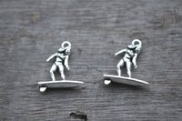 145pcs-surfer-Charms-Antique-tibetano-silver-tone-surf-fascino-pendenti-Surf-Board-Collana-charms-19x21mm
