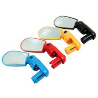 Wholesale High Quality Universal Handlebar Rearview Mirror Degree Rotate Bike MTB Cycling Black Yelllow Red Blue