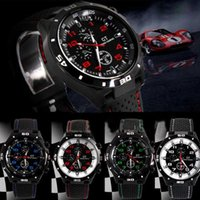 Wholesale Red Hour Glass Dress - Wholesale luxury Casual Quartz watch mens sport military Watches GT sport Wristwatch Silicone Clock Fashion Hours Dress Watch