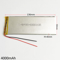 Wholesale Notebooks Camera - Model 4050136 3.7V 4000mAh Lithium Polymer Li-Po Rechargeable Battery For DVD PAD Mobile phone GPS Power bank Camera E-books Notebook