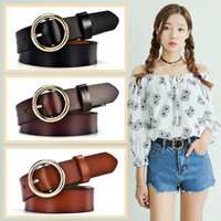 Wholesale Branded Jeans Names - Brand name is good quality The New Round buckle Ms Belt Simple wild Korea fashion jeans belt Female decoration