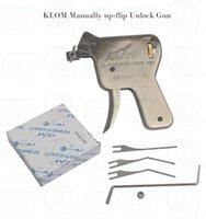 ingrosso trasporto libero della pistola del selezionamento di blocco-Strumenti di fabbro vendita calda KLOM Genuino Manuale Lock Pick Gun Fabbro Strumento di Blocco di Apertura (SU o GIÙ) spedizione gratuita