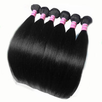 Wholesale Cheap Hair Products Free Shipping - Brazil Straight Hair Products, Cheap Brazilian Hair Human, 50g bundles, 6bundles lot, Factory Outlet Price,12inch-30inch Free Shipping
