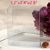 Wholesale Toy Display Pvc Box - 100pcs PVC 3x6x7cm Clear Transparent Plastic Packing Toy PVC Display Boxes Wedding Favors Gift Candy Box Packing Boxes Free Shipping