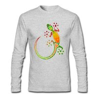Wholesale Tribal Black - Fashion colorful pattern shirts for men Gecko Floral Tribal Art printed shirts O-neck High quality discount T-shirts