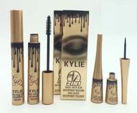 Wholesale Eyeliner Dhl - 2016 New High quality 2 in1 Kylie Mascara+Eyeliner Charming eyes Magic Thick Slim Waterproof Mascara Eyeliner Black DHL Free Shipping