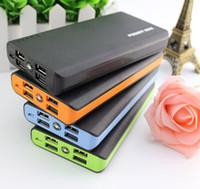 batería de reserva de la batería del teléfono móvil al por mayor-Nuevo Mobile Power Bank 20000mAh 4 usb powerbank cargador portátil externo Battery 20000 mAH cargador de teléfono móvil Backup powers
