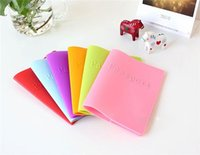 Wholesale passport cover candy colored silicone cover for passport dustproof waterproof colorful passport holder