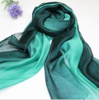Wholesale Silk Linen Shawl - High Quality 100% Silk kerchief Cashmere Winter Scarf Linen Women Big Size Scarves Men Pashmina Infinity Keep warm Thick Shawls 195*88CM