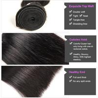 Wholesale Cheap Colorful Weaves - Colorful Queen Indian Virgin Hair Extensions 3pcs 4pcs Indian Straight Human Hair Weaves Cheap Indian Straight Virgin Human Hair Bundles