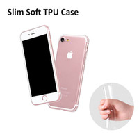 Wholesale Ultra Thin Cell Phone Cases For Apple iPhone Plus S S SE Luxury Crystal Transparent Soft TPU Silicone Case
