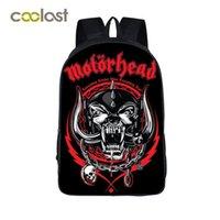 Wholesale Band Motorhead - Motorhead   Pantera Band Backpack for Teenage Girls Boys School Bags Avenged Sevenfold Kids Bag Hip Hop Bags Male rugzak vrouwen