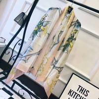 Wholesale Lace Poncho Shawl - 2017 women new fashion luxury brand scarves silk scarf floral ladies scarfs shawl wrap foulard femme schal luxus marke fulares mujer echarpe