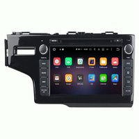 Wholesale Dvd Car Honda Fit - 1024*600 Android6.0 8inch octa core car dvd radio gps navigation for Honda Fit 2014 left with Wifi Bluetooth DVR OBD Mirror link