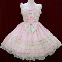 Wholesale Carnival Candy - DE Quality Customized Sweet Lolita Dress Plus Size Dress Candy Style with Cute Bows 3 Colors Available