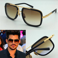 Wholesale Gold Plated 18 - vintage sunglasses mach one titanium sunglasses 18 K gold plated square frame retro style top quality with case UV400 lens