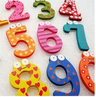 Wholesale Toy Magnets Numbers - Children's Toys Wooden numbers Fridge Magnets Puzzle toys Children's Christmas Creative gifts Kids wooden toys magnetic