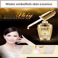 Wholesale Whitening Hyaluronic Essence - Genuine 30ml 24K pure gold foil essence Hyaluronic Acid Liquid Cream Whitening Moisturizing Skin Treatment Face Care Cream