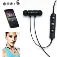 Wholesale Electronic Ear - Outdoors Sports Running Stereo Bluetooth Neck Hanging Cell Phone Call Music Wireless In-ear Headset Electronic 3131