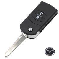 Wholesale Mazda Rx8 Remote - car New 2 button remote key blank case Folding Flip Remote Key Shell Case Fob PAD FOR MAZDA 2 3 5 6 RX8 MX5 2B Free shipping