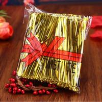 ingrosso cravatta di pane-Candy Color Metallic Twist Ties Wire Cello Borse Lollipop Pack Chiusura di fissaggio per Cake Pops Bread