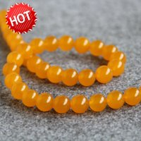 Nuevo NecklaceBracelet Accessories 10mm Natural Yellow Turkey crystal Jaspe beads Jade Round stones Loose Beads 15inch Jewelry