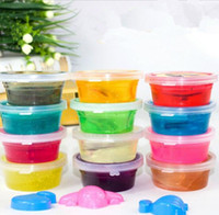 Wholesale Wholesale Toxic Glue - SLIME Colored Clay Glue Squishy Toy Non Toxic Funny Trick Toy Creative Novelty Items Jelly Mud Gag Crystal Mud