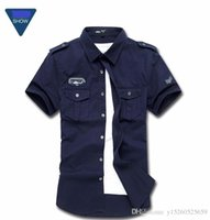 Wholesale Air Force Military Uniforms - 2016 New Men's Solid Shirts Fashion The Uniform Of The Air Force Military Fitness Casual Shirts Chemise Men's Dress Shirts M-4XL
