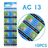 Wholesale Lr44 Button Cell Battery - Hot selling 10 Pcs AG13 LR44 357A S76E G13 Button Coin Cell Battery Batteries 1.55V Alkaline EE6214