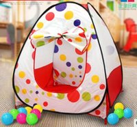 Enfants Enfants Play Tents Extérieur jardin Folding Portable Toy Tent IndoorOutdoor Pop Up Multicolor Maison indépendante