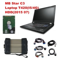 MB STAR C3 MB C3 + 2015 dello scanner OBD2 di alta qualità 07software HDD + Laptop T420 (4G I5) per l'attrezzo diagnostico di Mercedes OBD2 Trasporto libero