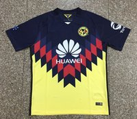 Wholesale Micky Shirt - new 2017 Top Quality Mexico Club America Soccer Running Shirt 17 18 Home Away MICKY O.PERALTA SAMBUEZA D.BENEDETTO football Jerseys