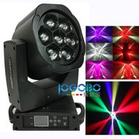 Лучший завод 7x15W RGBW Ostar LED Mini Bee Eye Beam Light DMX512 Moving Head Light DJ Fest Home Show Bar Stage Party Light Stage Equipment