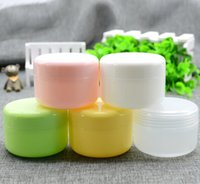 Wholesale Cosmetic Tin Packaging Wholesale - Free shipping 50g(100pc lot) empty Plastic Cream mask PP bottles jars containers tins for cosmetics packaging 20170308#