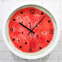 Wholesale Vintage Home Decor Saat Relojes Pared Decoracion Watch Large  Digita Relogio Parede Wall Clocks Kitchen Red 12inch Plastic Single UK