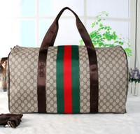 Wholesale Travel Bag 55l - 55CM Keepall Weekender Keepall bag PU Leather large capacity women travel bags Holdall duffel bag famous designer men