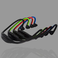 Wholesale Ear Player - Stereo neck Bluetooth earphones Sports headset In Ear Wireless earbuds headphone Hifi Music Player for iPhone mobile phone DHL free USZ055